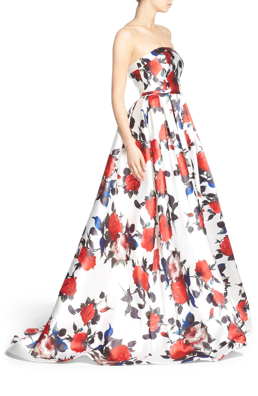 Alternate Image 3  - Mac Duggal Floral Print Strapless Gown