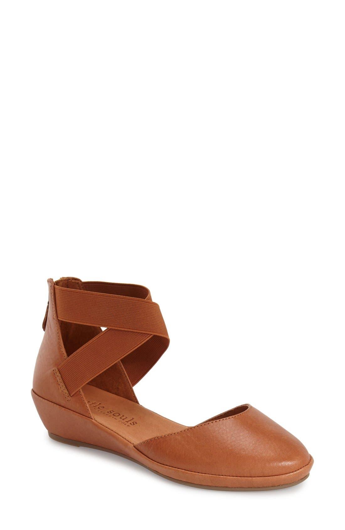GENTLE SOULS 'Noa' Elastic Strap d'Orsay Sandal