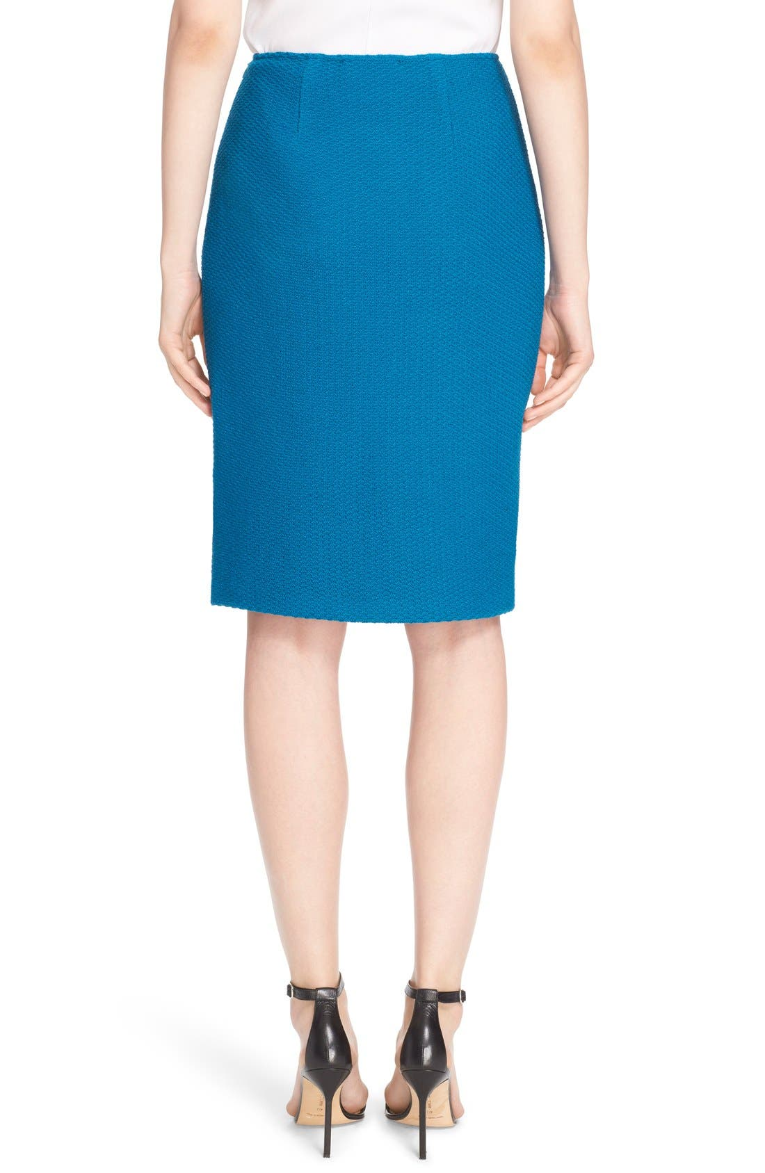 Alternate Image 2  - St. John Collection Textural Twill Pencil Skirt