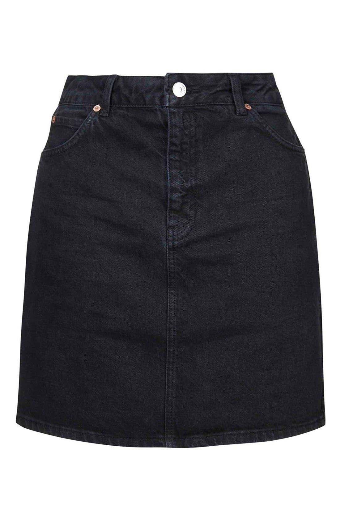 Alternate Image 4  - Topshop Denim A-Line Skirt
