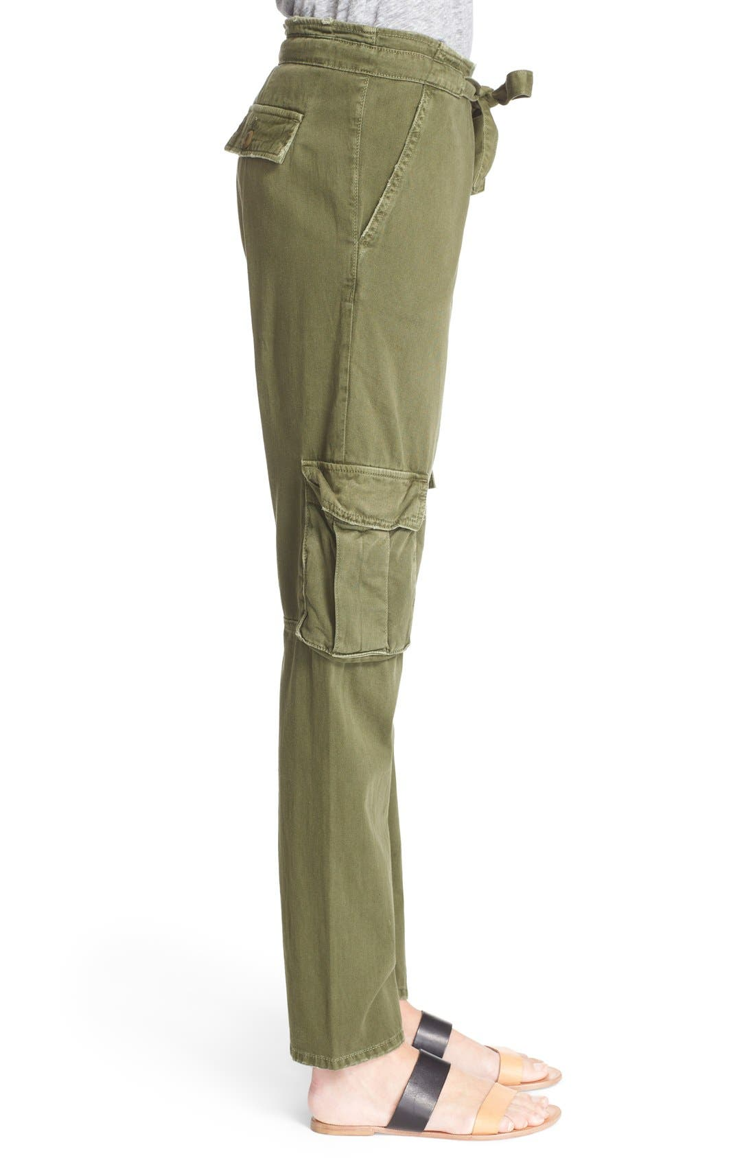 Alternate Image 3  - Current/Elliott 'The Buddy' Cotton Twill Trousers
