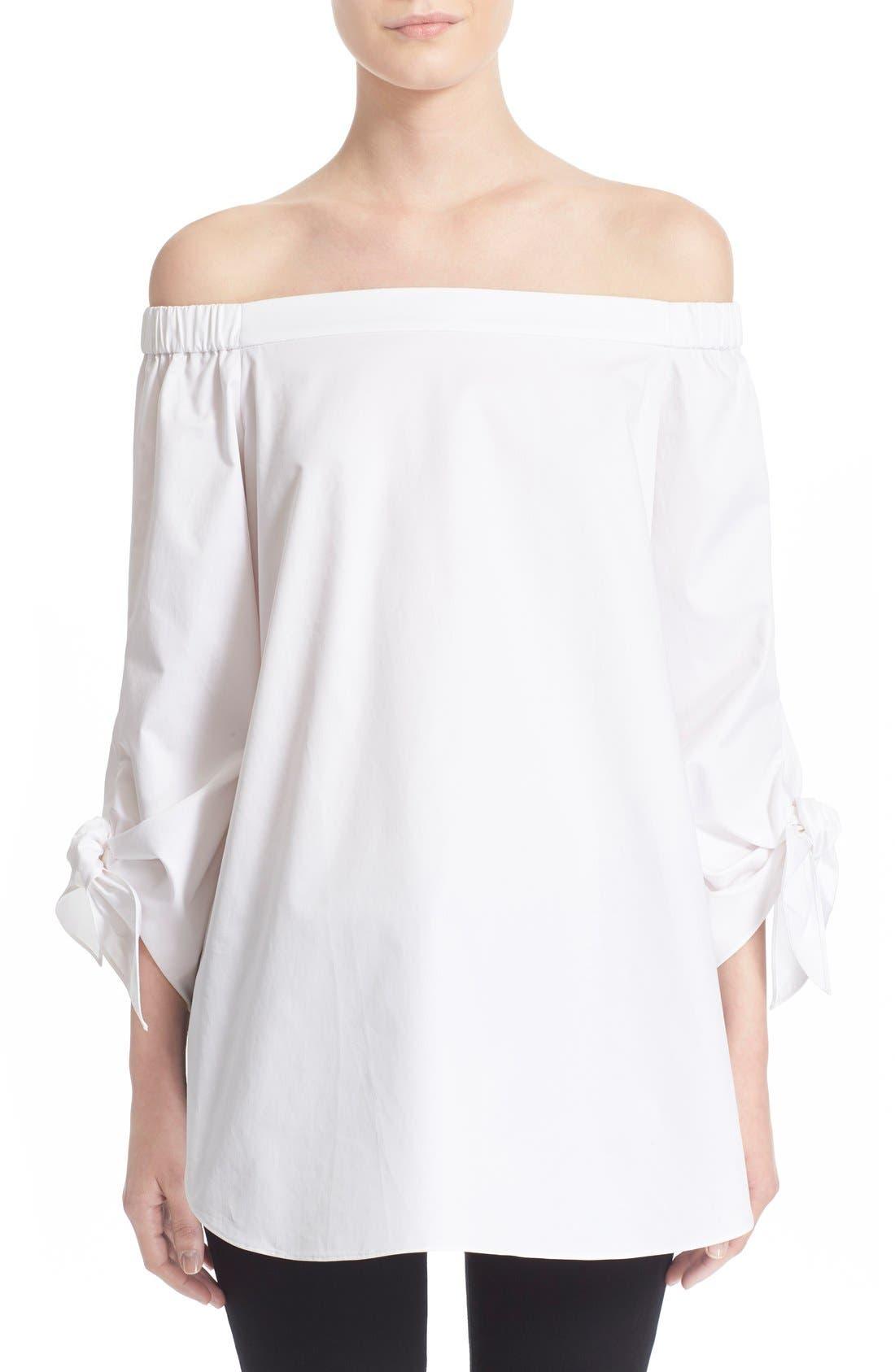 Main Image - Tibi Off the Shoulder Cotton Tunic