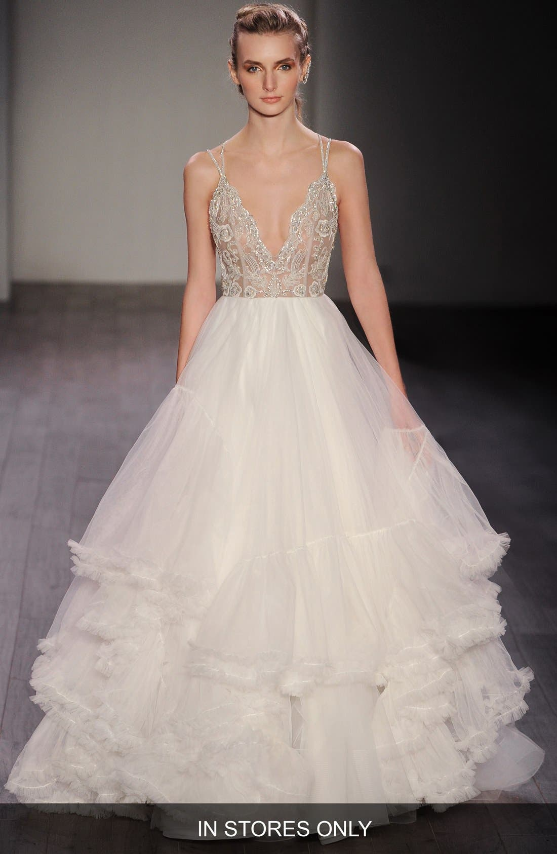 HAYLEY PAIGE 'Georgie' Embellished Bodice Tulle Ballgown