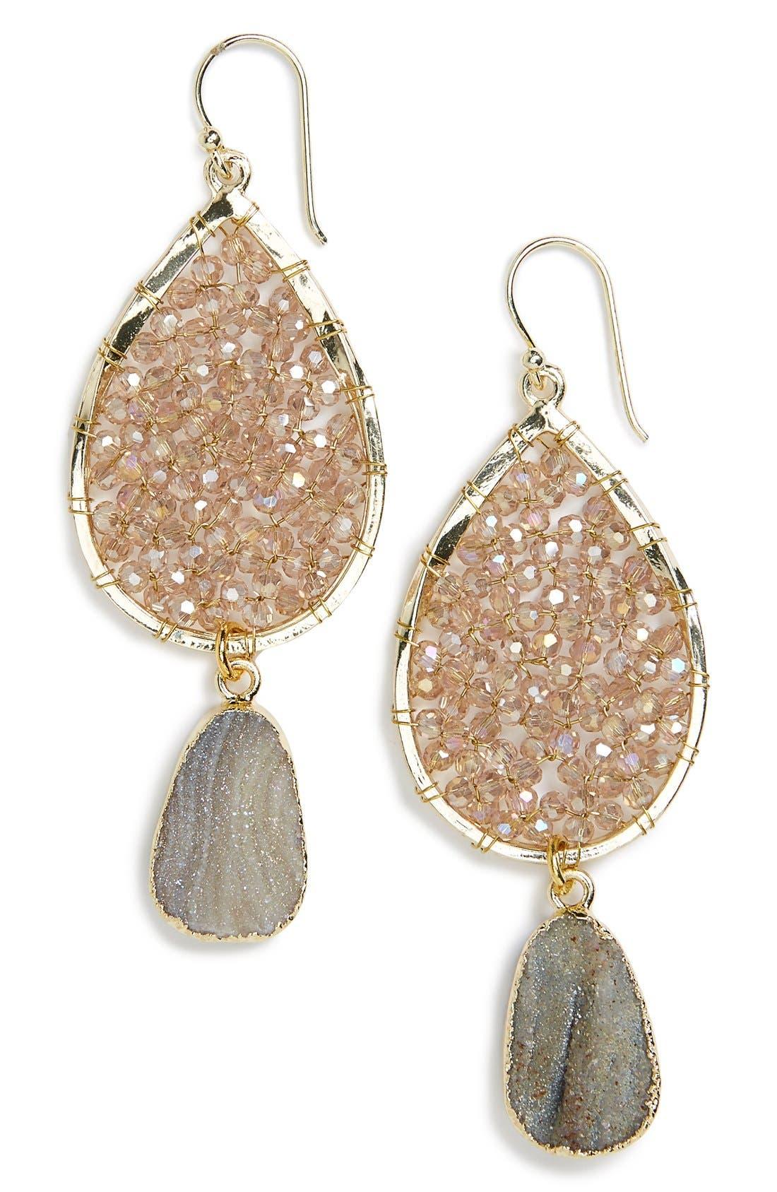 Alternate Image 1 Selected - Panacea Smoky Agate Drop Earrings