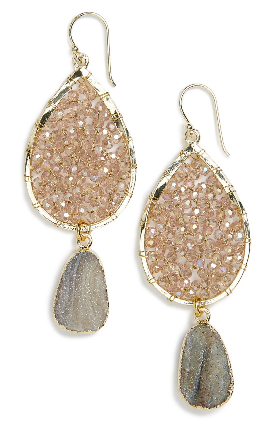 Main Image - Panacea Smoky Agate Drop Earrings