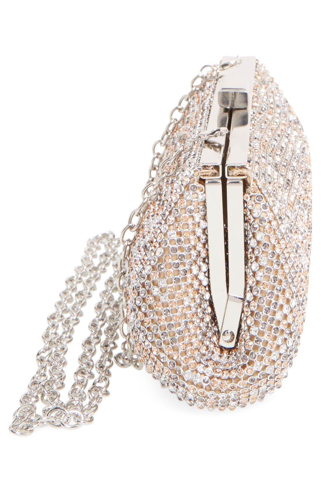 Alternate Image 5  - Glint Crystal Mesh Clutch