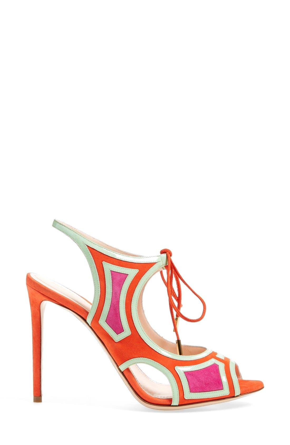 Alternate Image 4  - Nicholas Kirkwood 'Outliner' Lace-Up Sandal (Women)