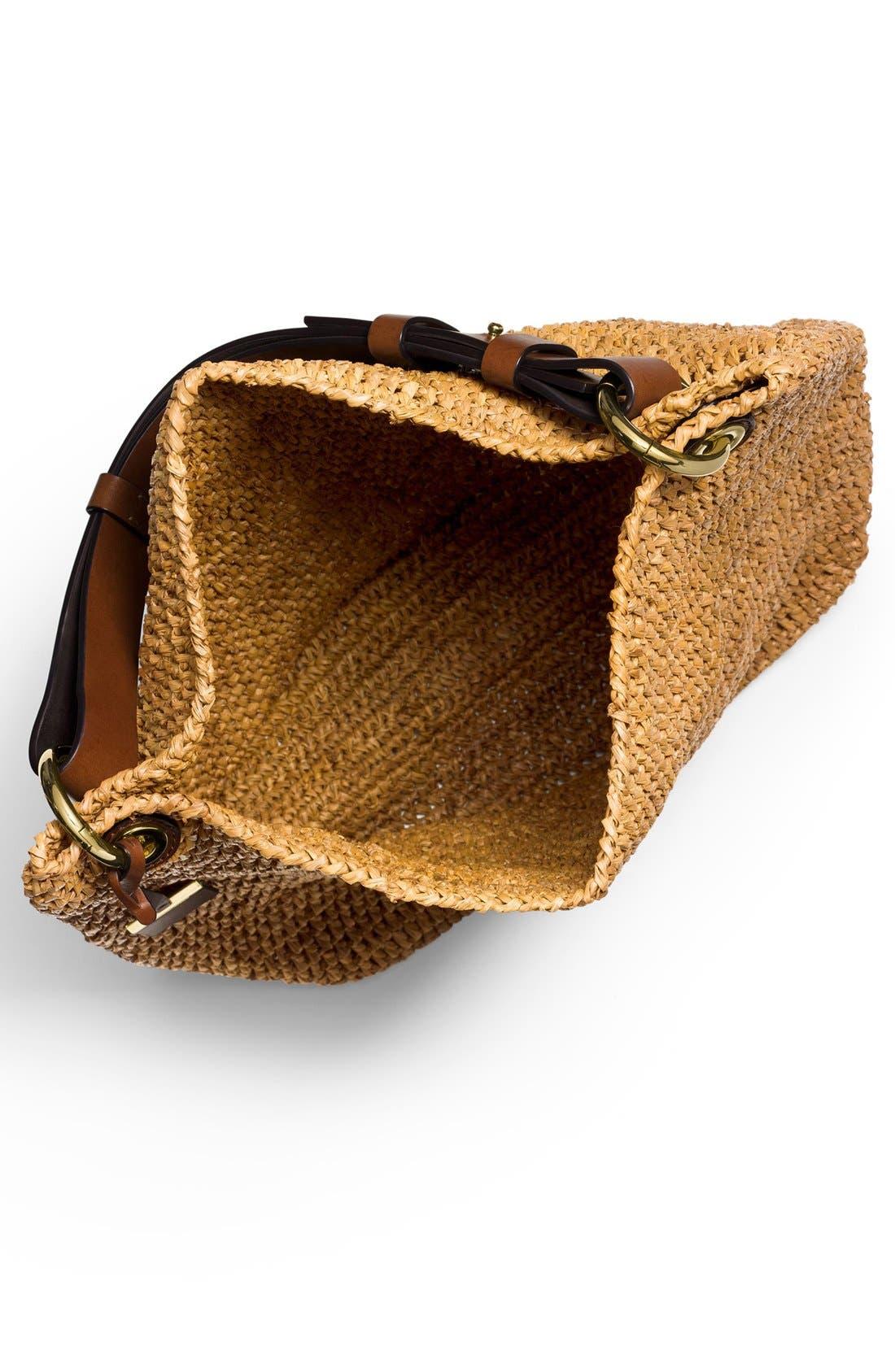 Alternate Image 3  - Michael Kors 'Large Santorini' Raffia Shoulder Bag