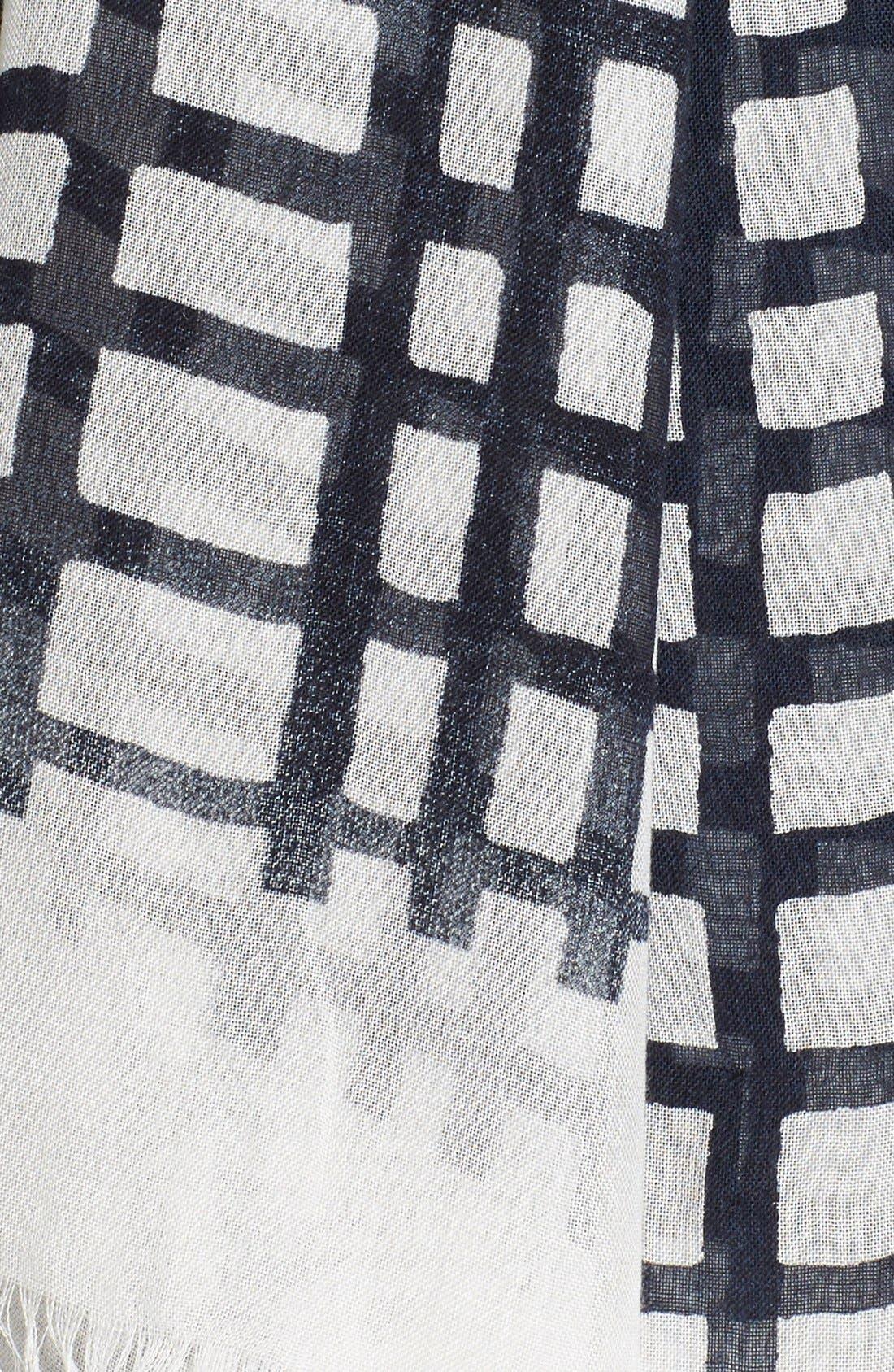 Alternate Image 3  - Y's by Yohji Yamamoto Check Print Modal & Silk Scarf