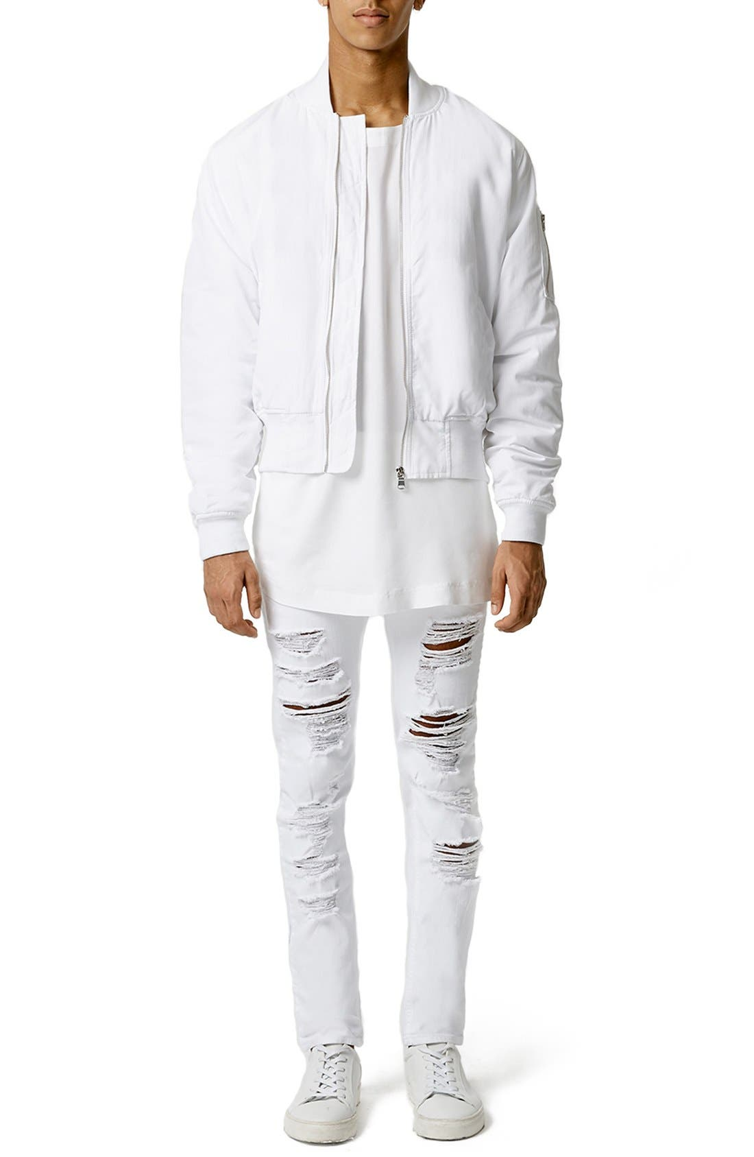 Alternate Image 2  - Topman AAA Collection Ruched Back Bomber Jacket