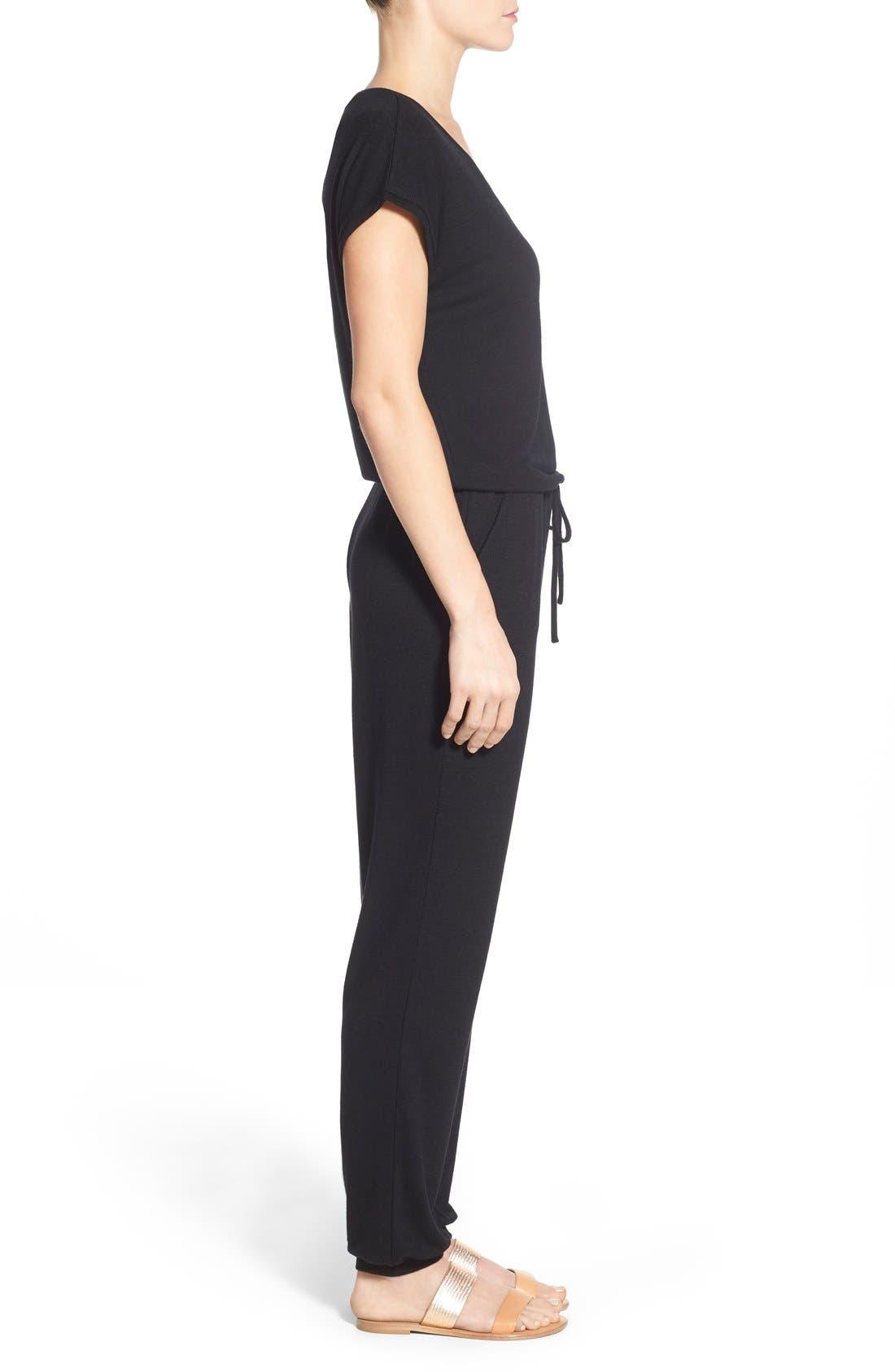 Alternate Image 3  - Caslon® Knit Blouson Jumpsuit (Regular & Petite)