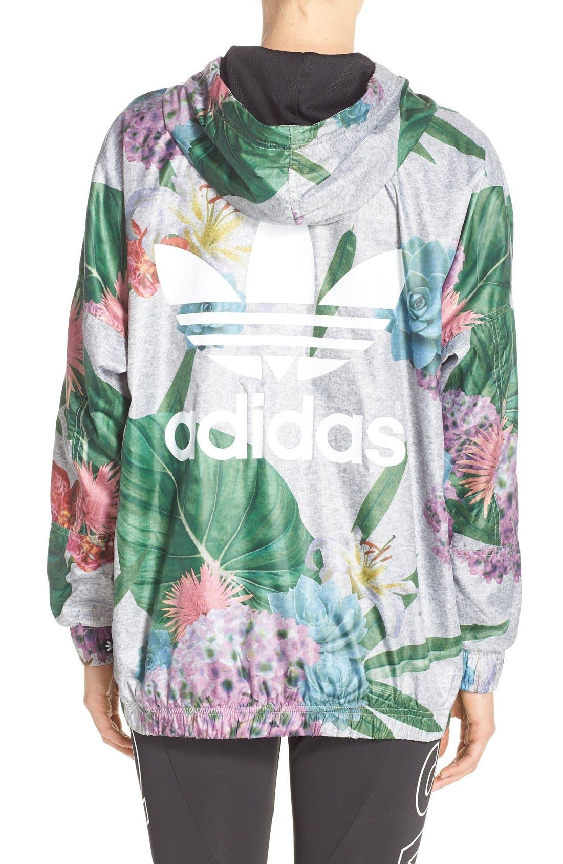 Alternate Image 2  - adidas Originals 'Training' Floral Windbreaker Jacket