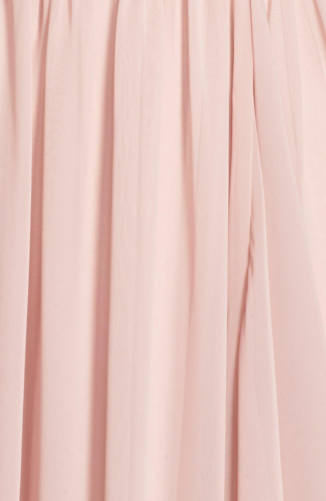 Alternate Image 5  - Eliza J Lace & Chiffon Gown (Regular & Petite)