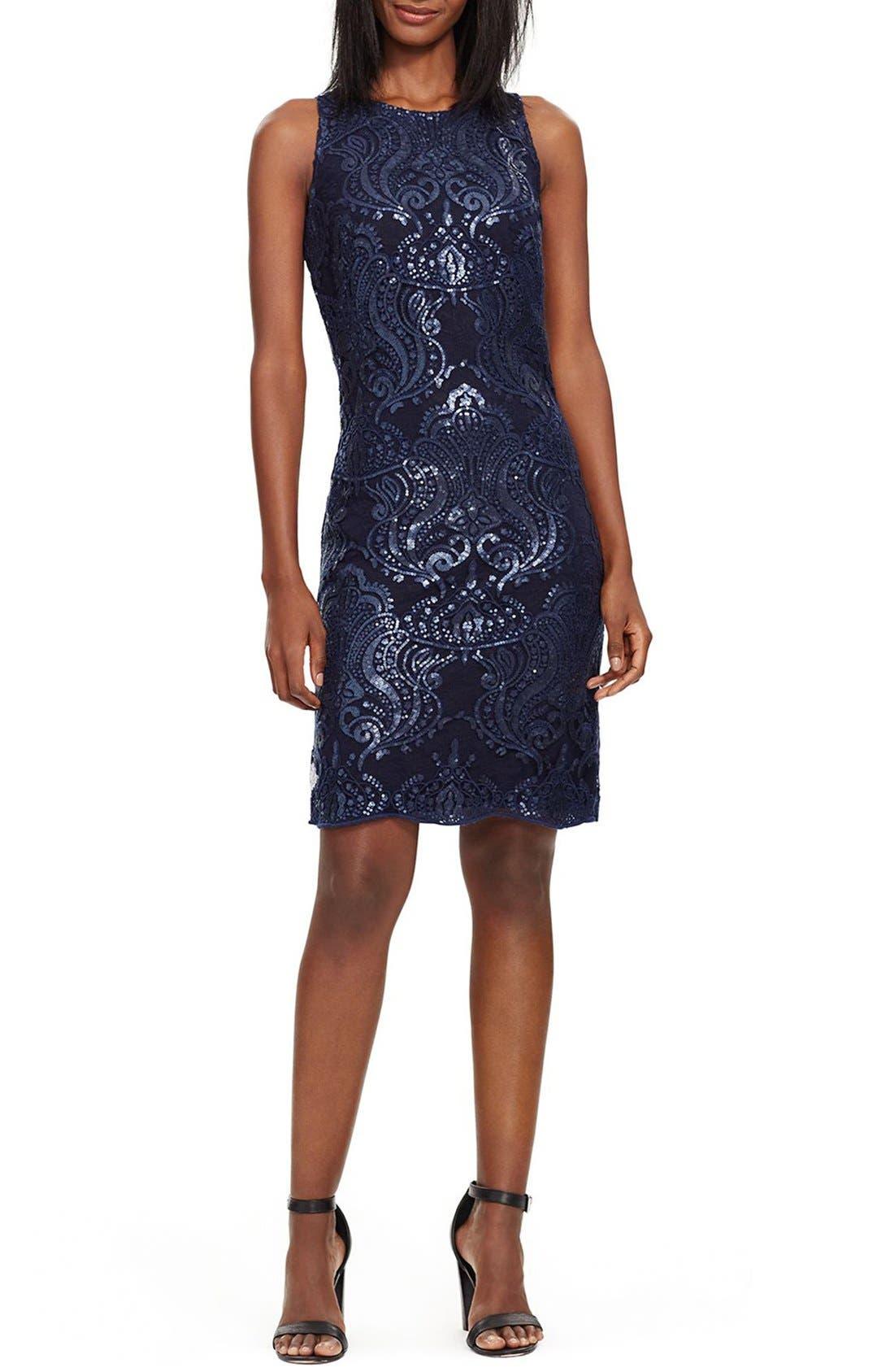 Alternate Image 3  - Lauren Ralph Lauren Sequin Lace Sheath Dress