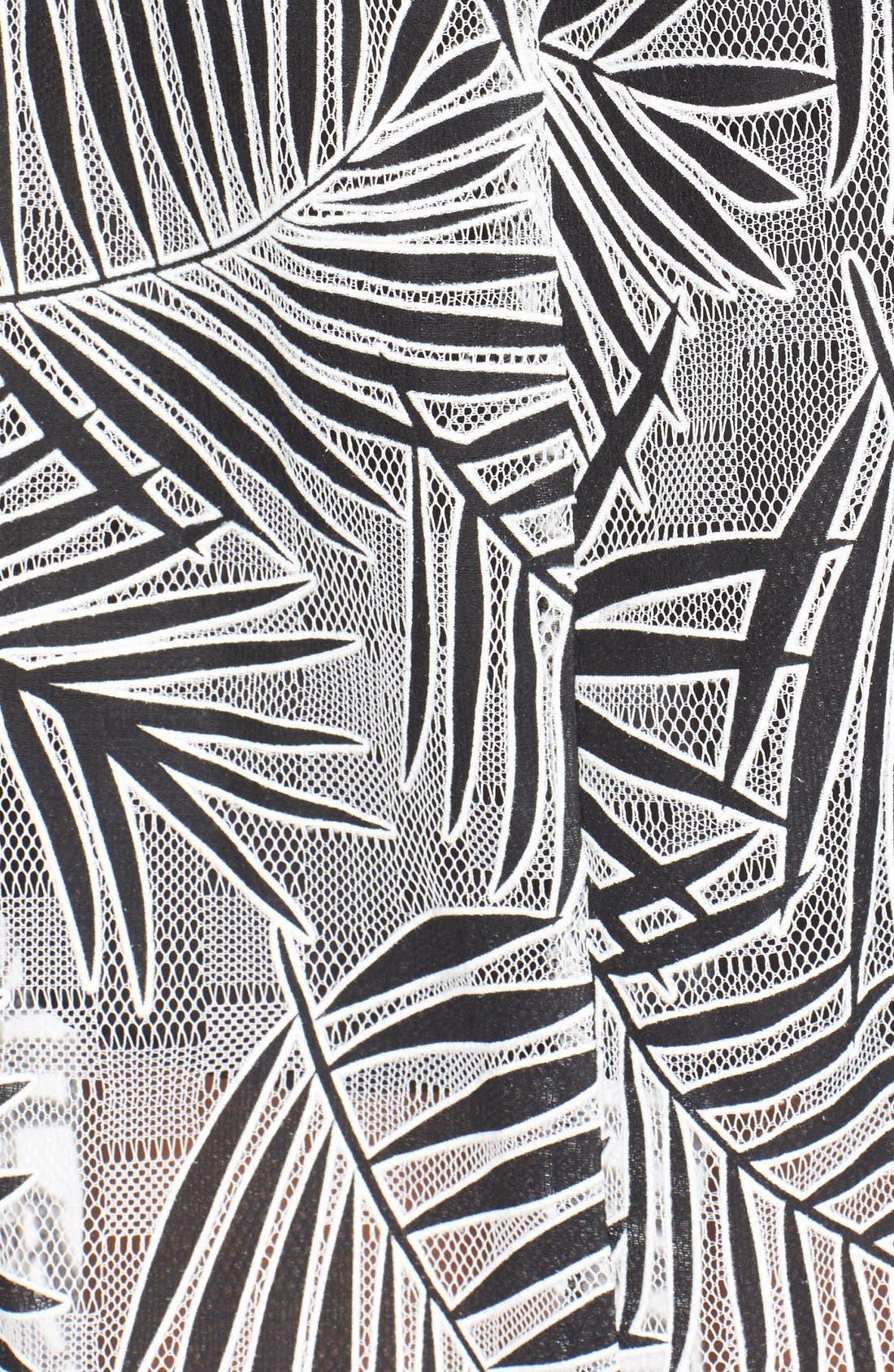 Alternate Image 5  - Parker 'Azalea' Palm Lace Midi Length Dress