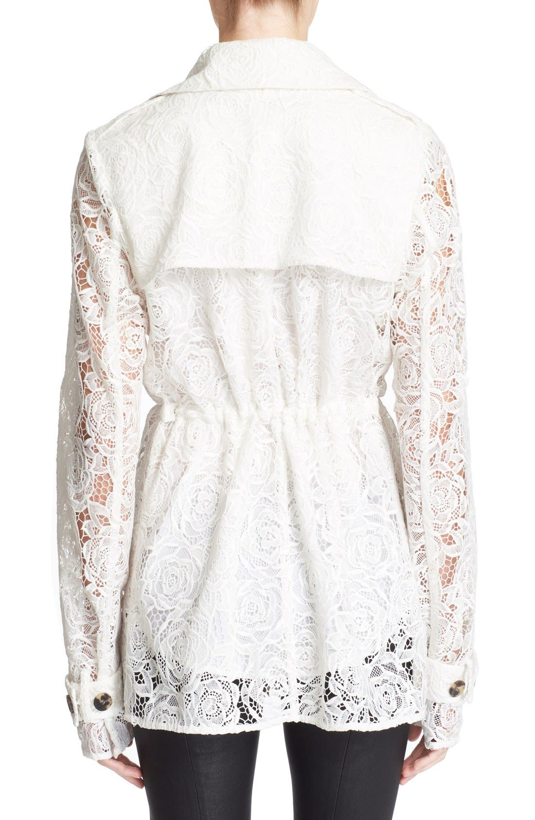 Alternate Image 2  - McQ Alexander McQueen Drawstring Floral Lace Trench