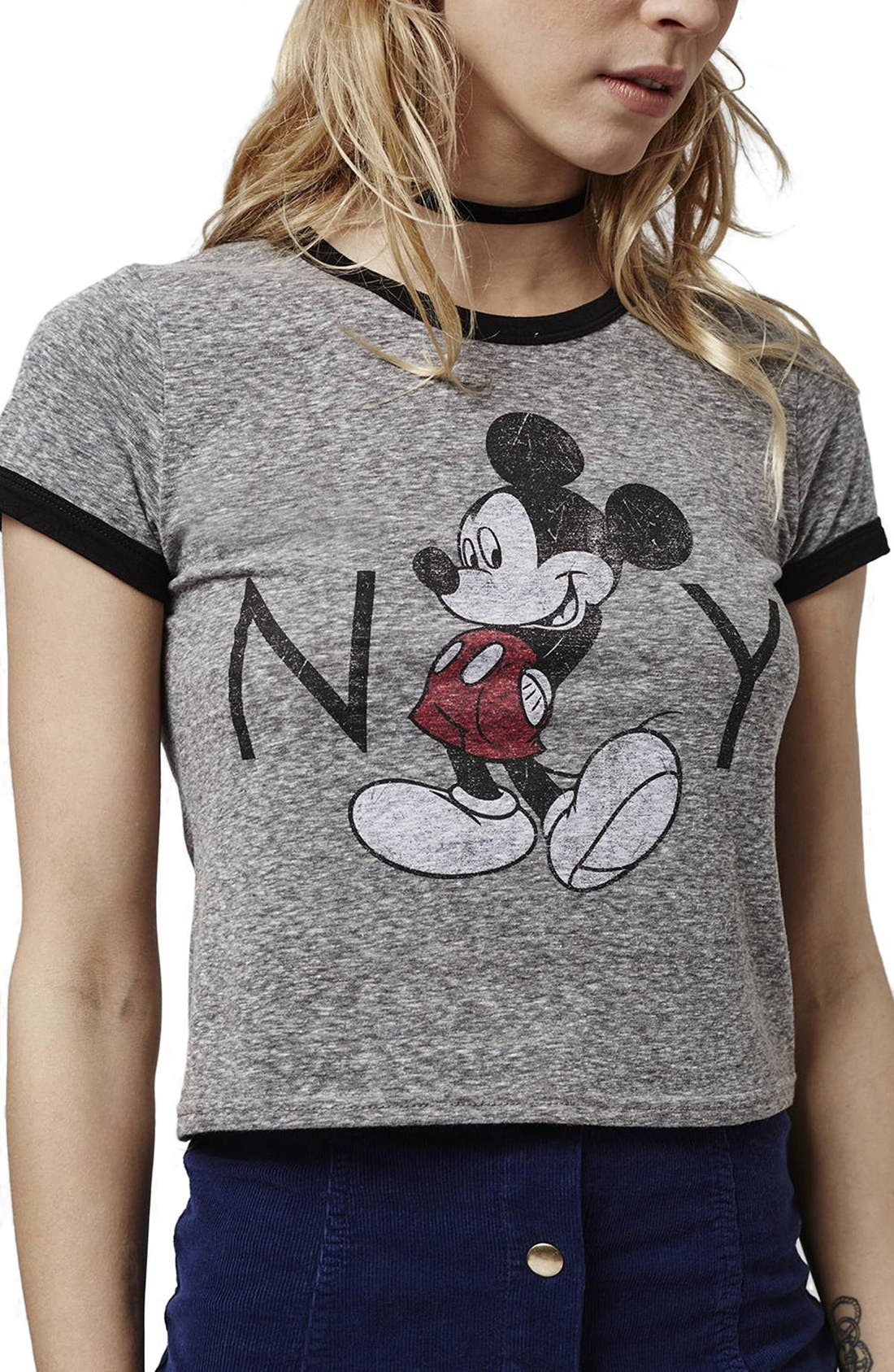Alternate Image 4  - Topshop 'Mickey Mouse New York' Graphic Tee