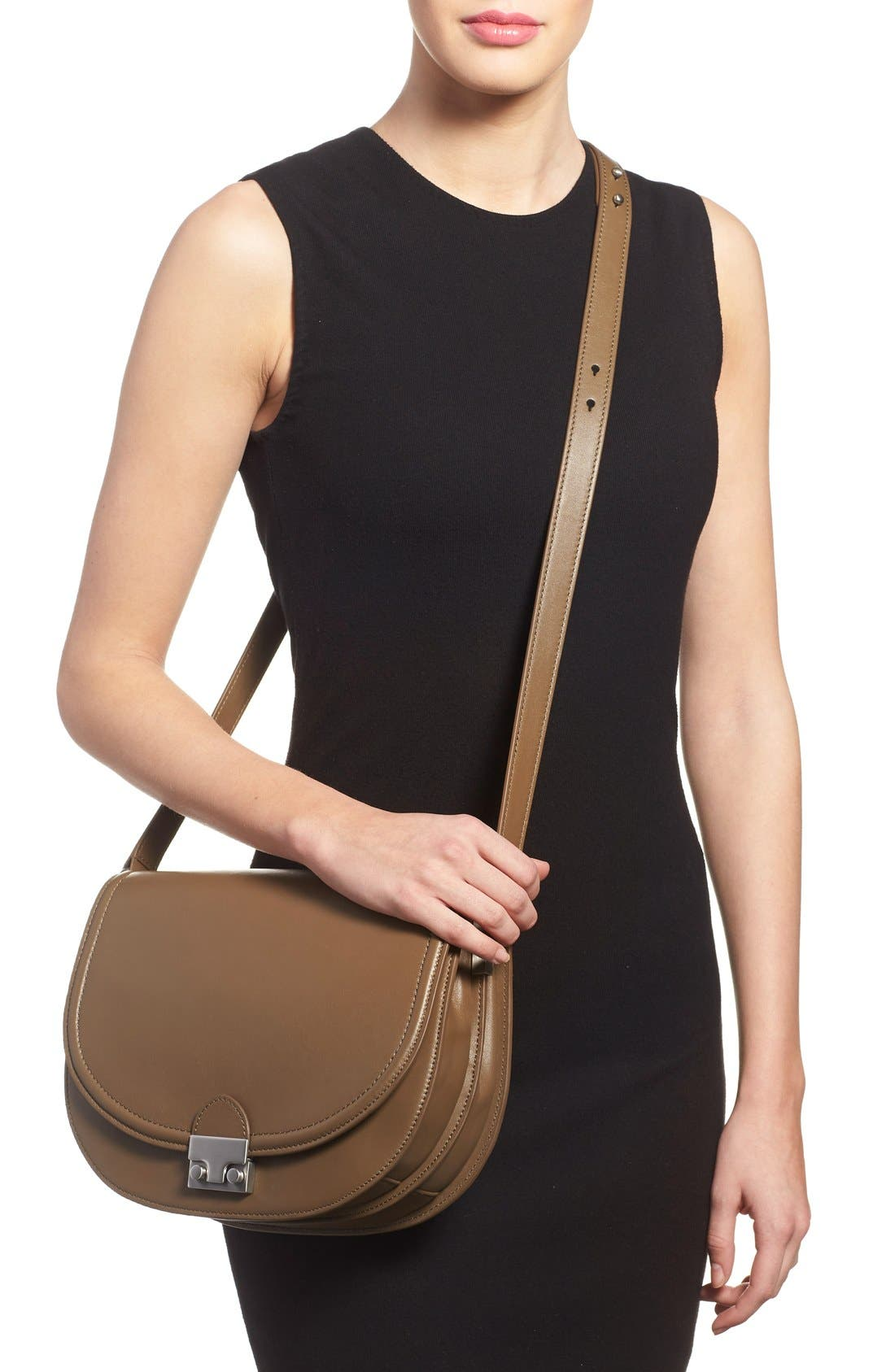 Alternate Image 2  - Loeffler Randall 'Large' Leather Saddle Bag