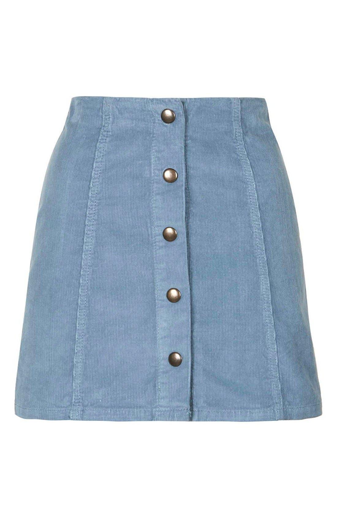 Alternate Image 4  - Topshop A-Line Corduroy Skirt