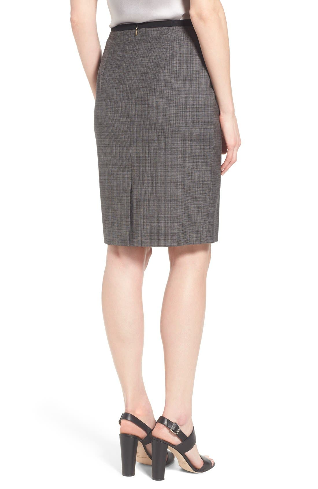 Alternate Image 3  - BOSS 'Vanya' Check Stretch Wool Suit Skirt