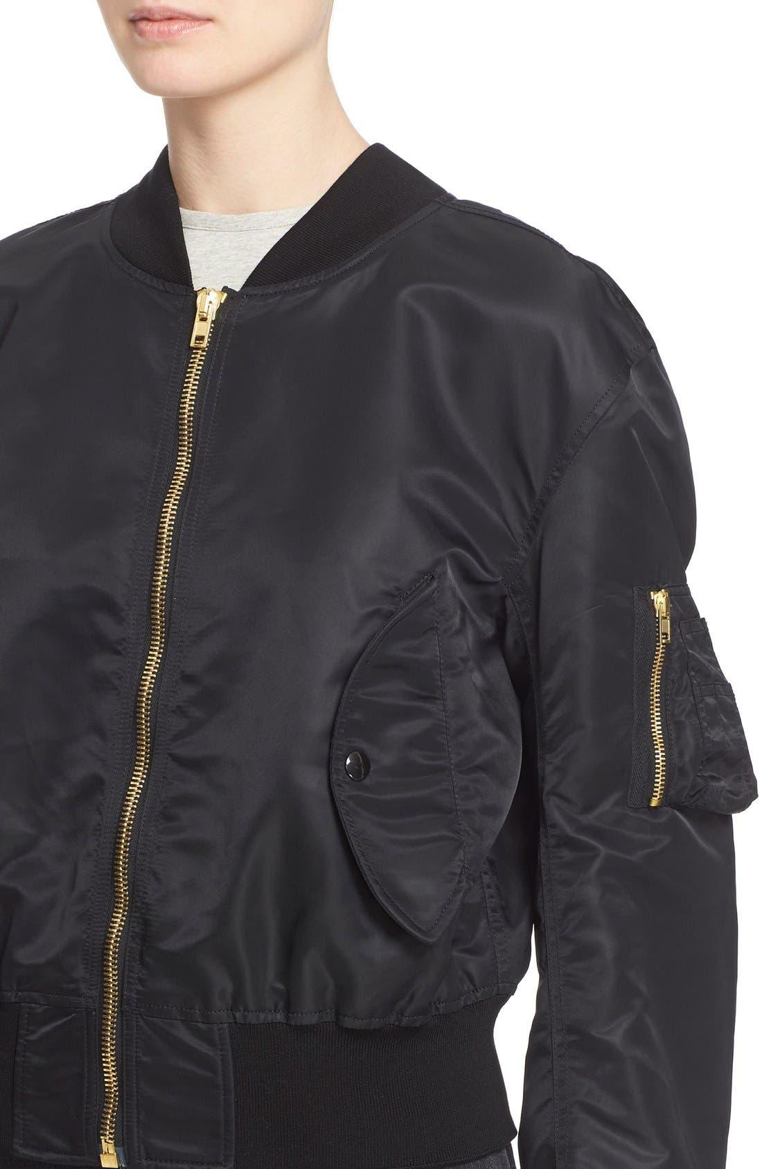 Alternate Image 6  - Vetements Nylon Bomber Jacket