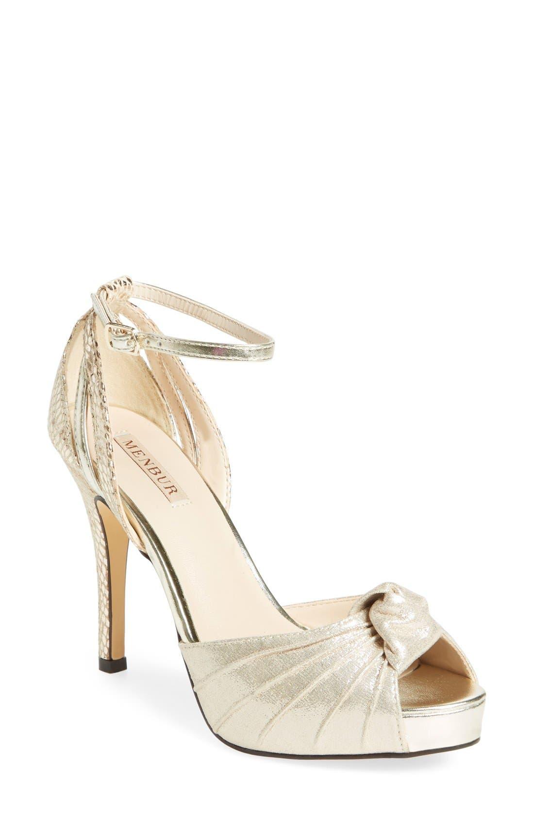 MENBUR 'Aguilera' Platform Peep Toe Sandal