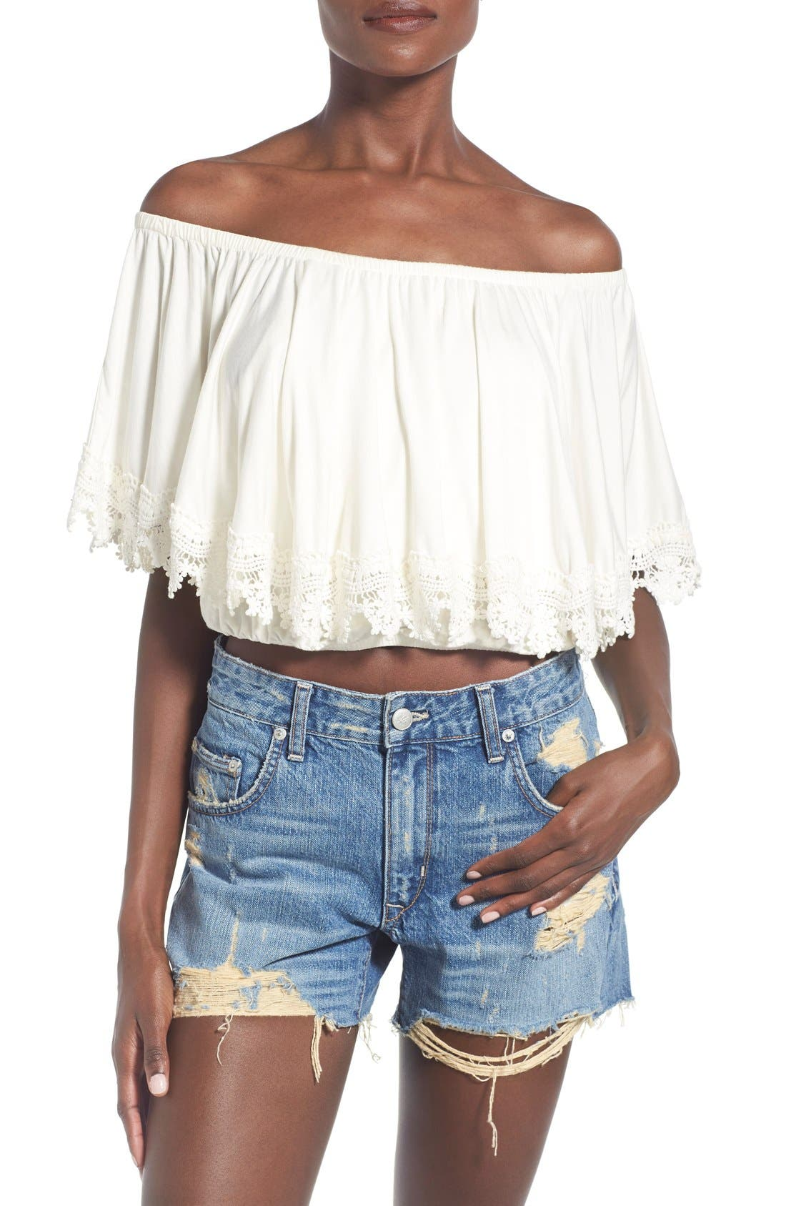 Alternate Image 1 Selected - Lovers + Friends 'Love Me' Off the Shoulder Top