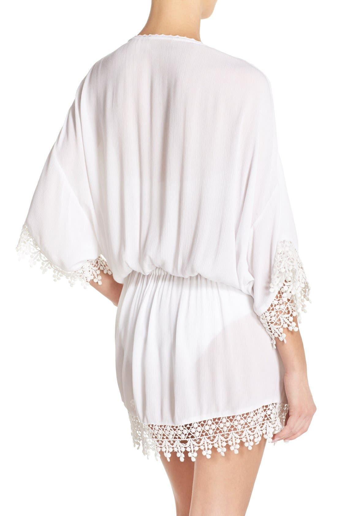 Alternate Image 2  - Tory Burch 'Treville' Crochet Trim Caftan Tunic