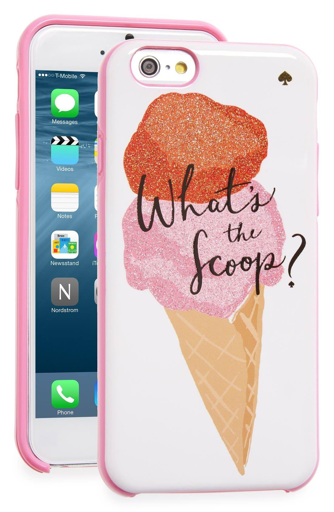 Alternate Image 1 Selected - kate spade new york 'what's the scoop?' iPhone 6 & 6s case