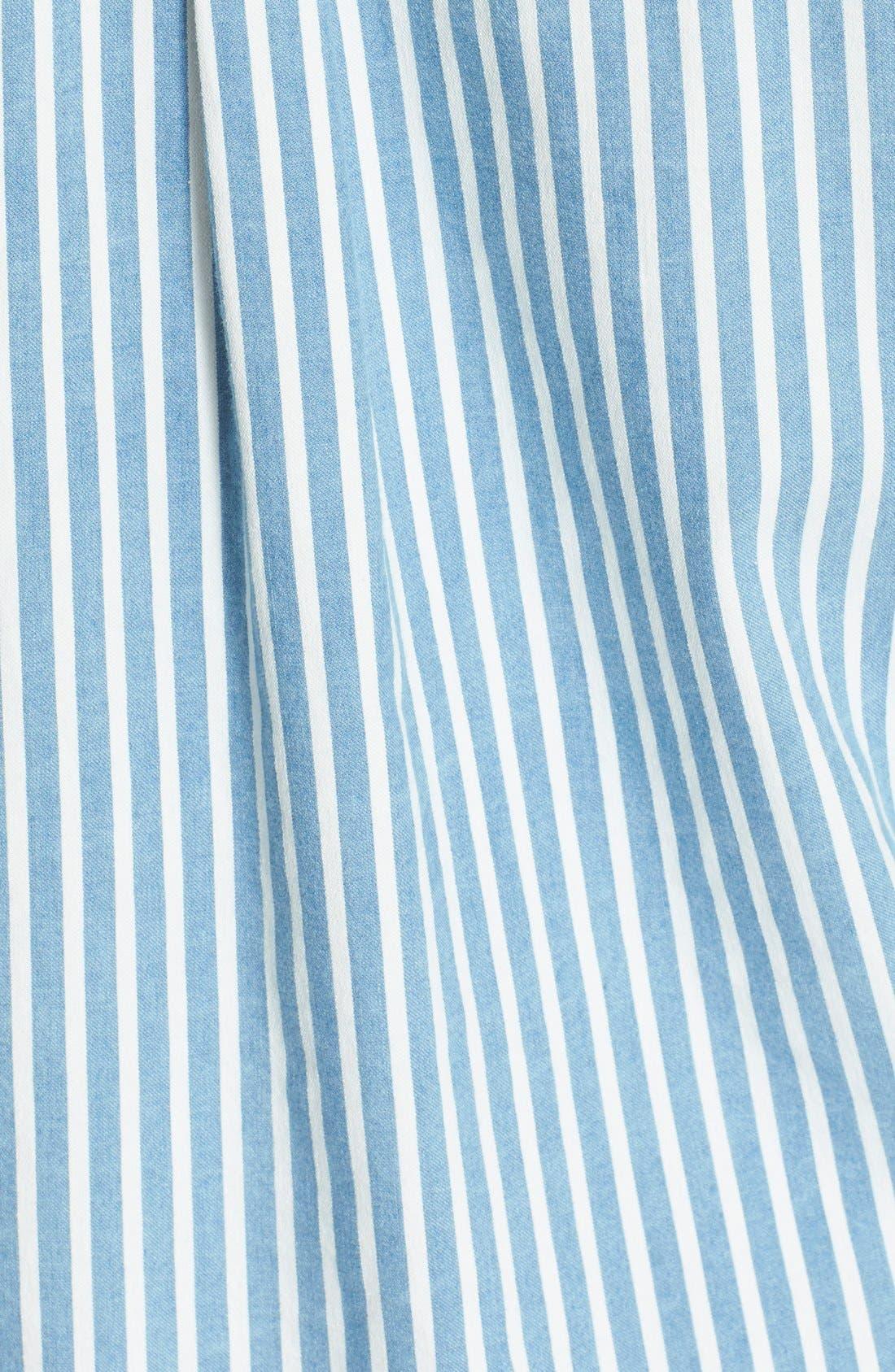 Alternate Image 5  - IRO 'Mia' Stripe Cotton & Modal Shirt