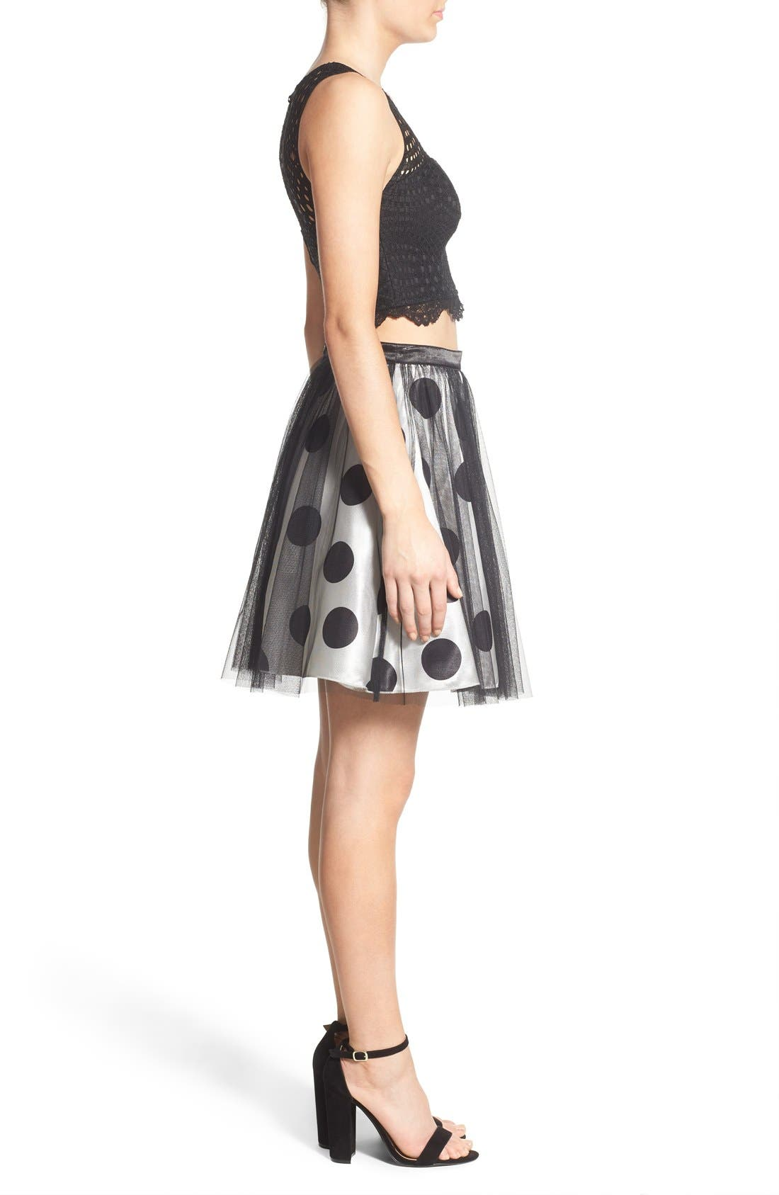 Alternate Image 3  - Sequin Hearts Two-Piece Dress