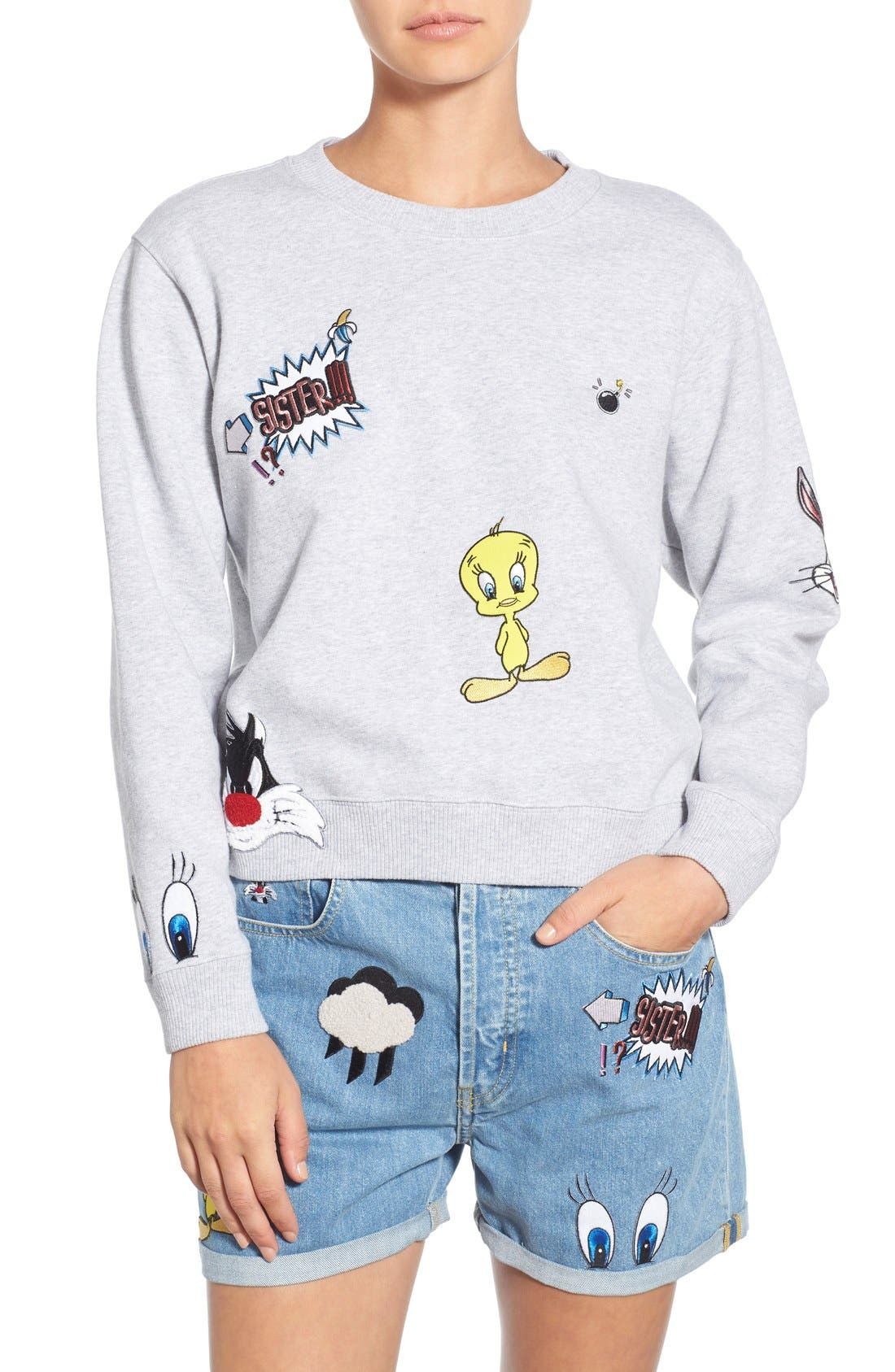 Alternate Image 1 Selected - Paul & Joe Sister 'So Funny' Crewneck Cotton Sweatshirt