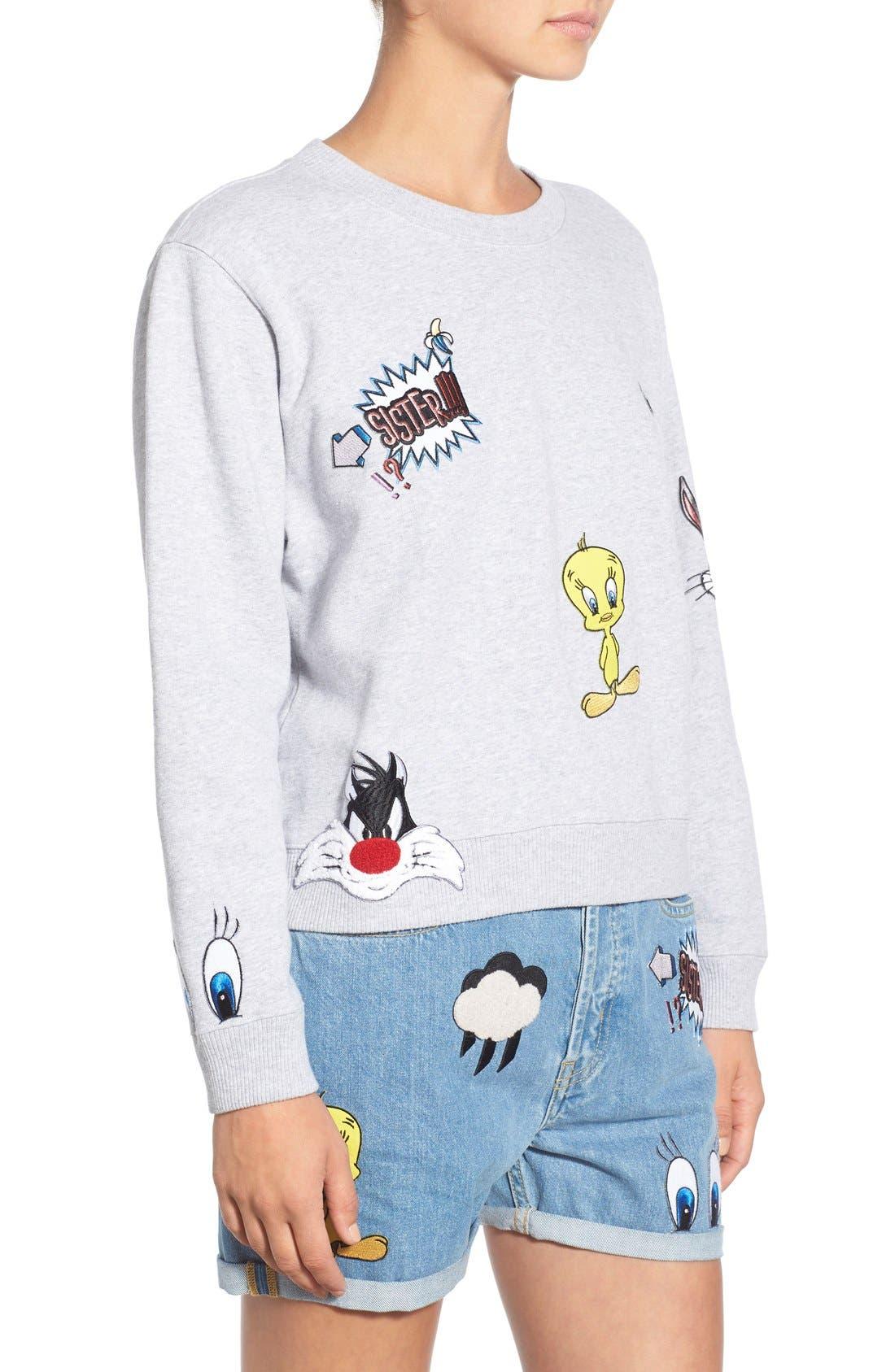 Alternate Image 3  - Paul & Joe Sister 'So Funny' Crewneck Cotton Sweatshirt