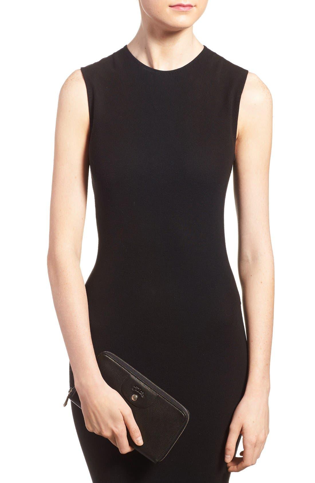 Alternate Image 3  - Longchamp 'Le Pliage' Leather Zip Around Wallet