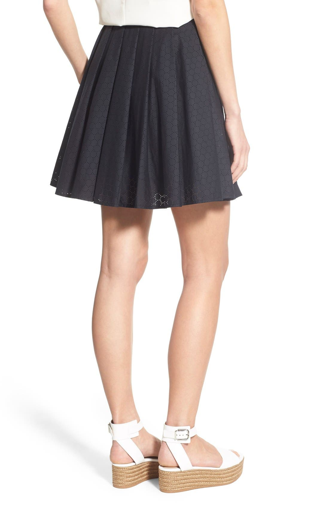 Alternate Image 2  - MICHAEL Michael Kors Pleated Miniskirt