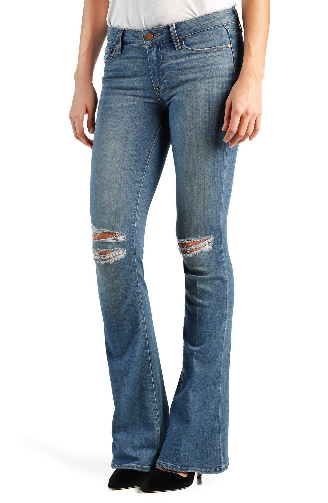 Alternate Image 1 Selected - Paige Denim 'Transcend - Lou Lou' Flare Jeans (Joelle)