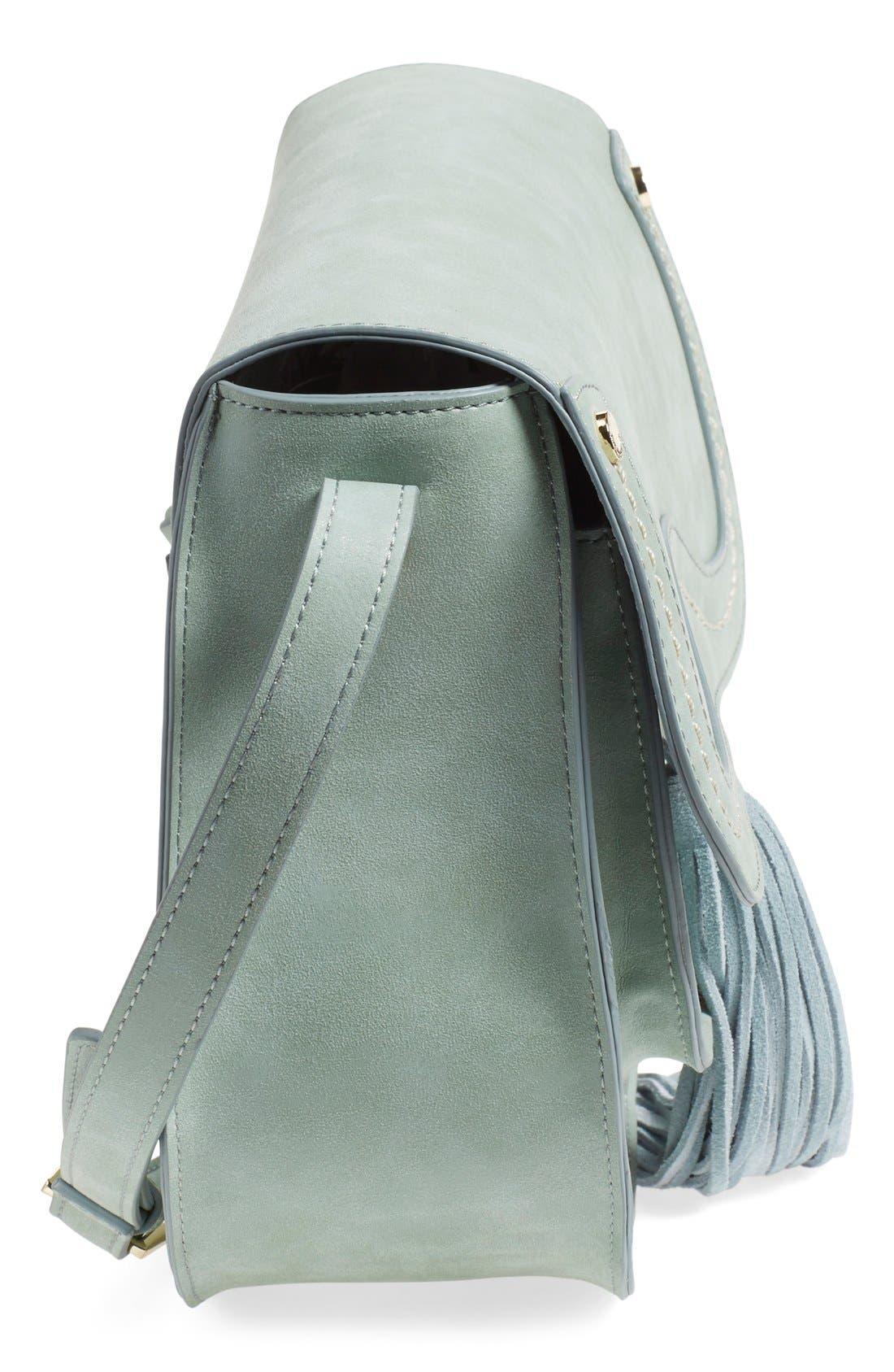 Alternate Image 5  - Steven by Steve Madden Faux Leather Saddle Bag