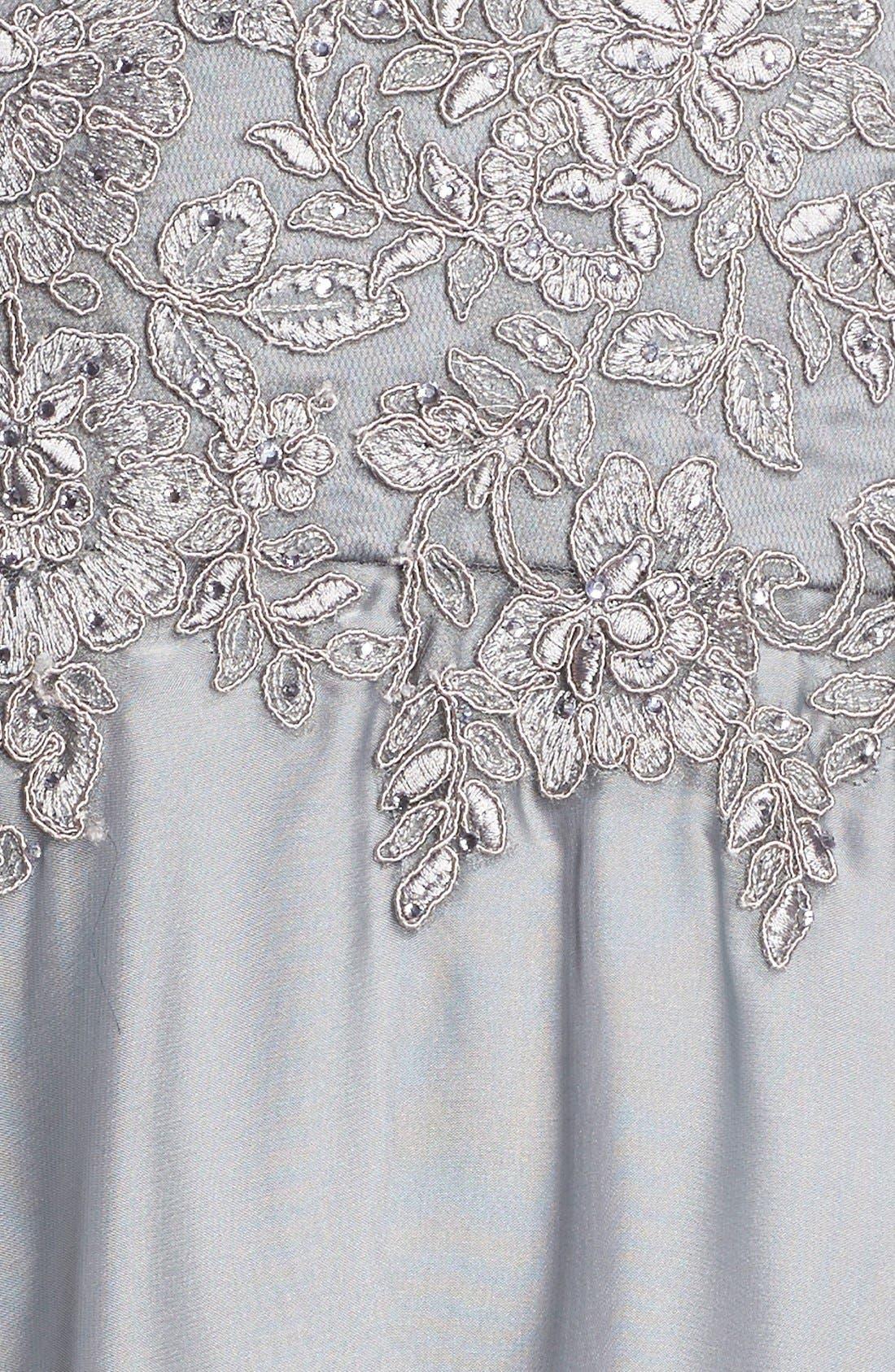 Alternate Image 6  - La Femme Embellished Lace & Satin Ballgown