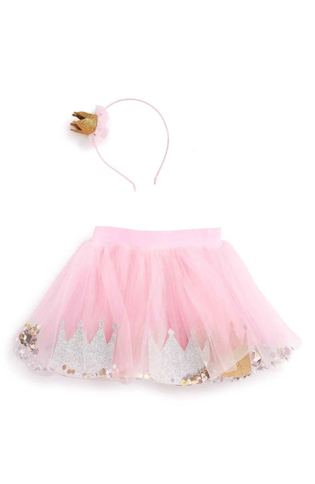 Mud Pie 'Princess' Tutu & Headband Set (Baby Girls)