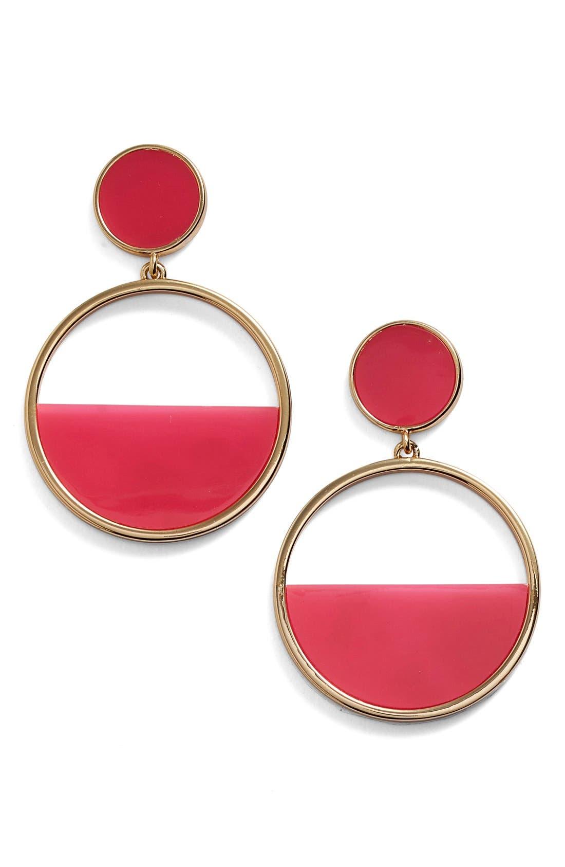 Alternate Image 1 Selected - kate spade new york hoop drop earrings
