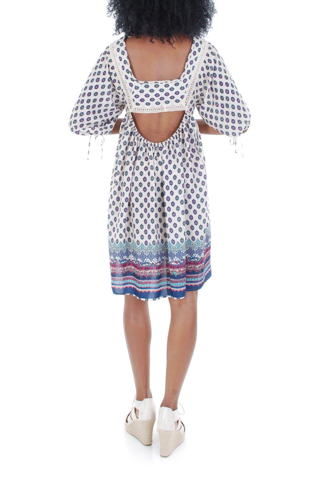 Alternate Image 2  - Everly Grey 'Willow' Print Maternity Babydoll Dress