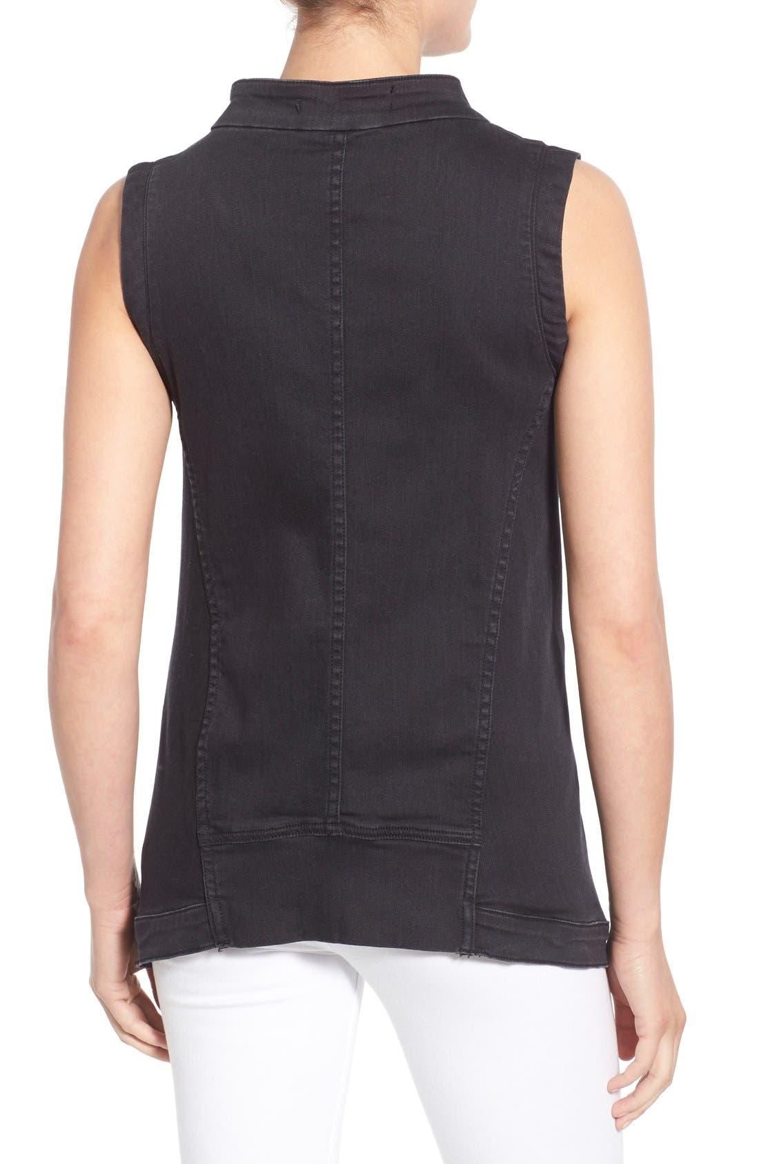 Alternate Image 2  - Fine by Superfine 'Grace' Drape Front Denim Vest