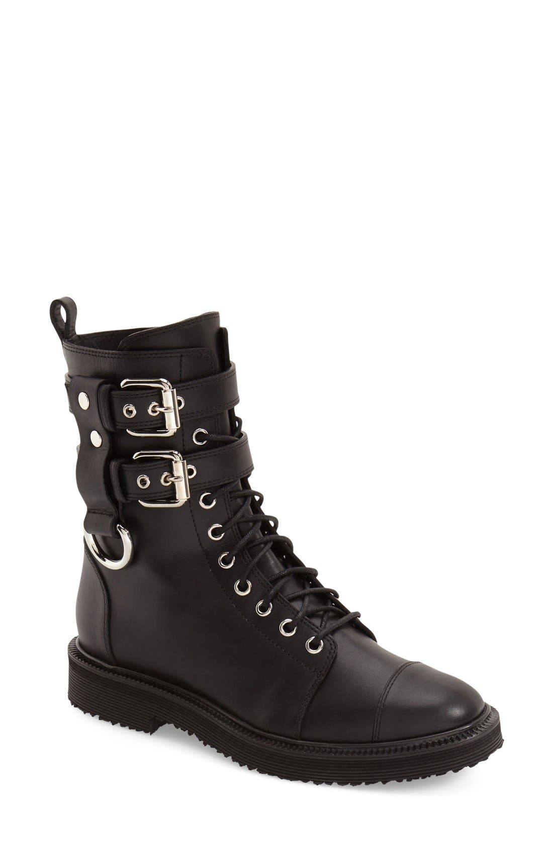 Alternate Image 1 Selected - Giuseppe Zanotti 'Hilary' Military Boot (Women)