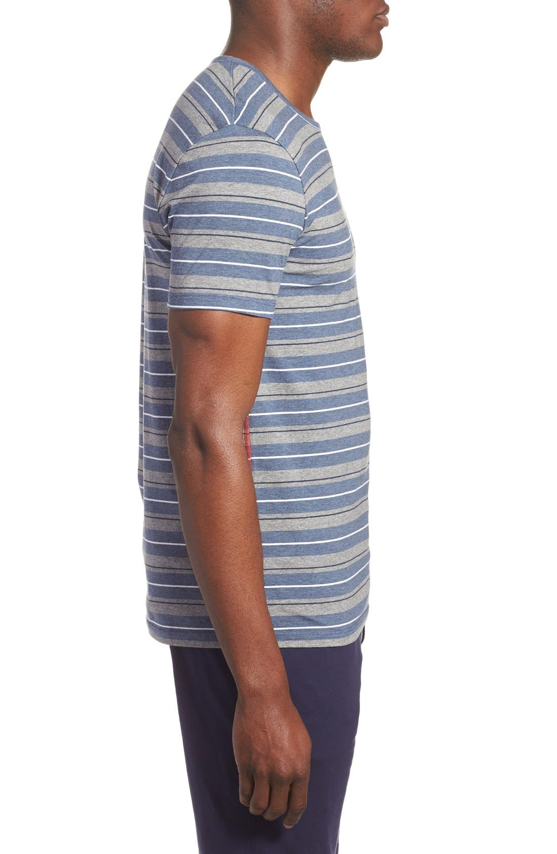 Alternate Image 3  - Paul Smith Stripe Stretch Cotton T-Shirt