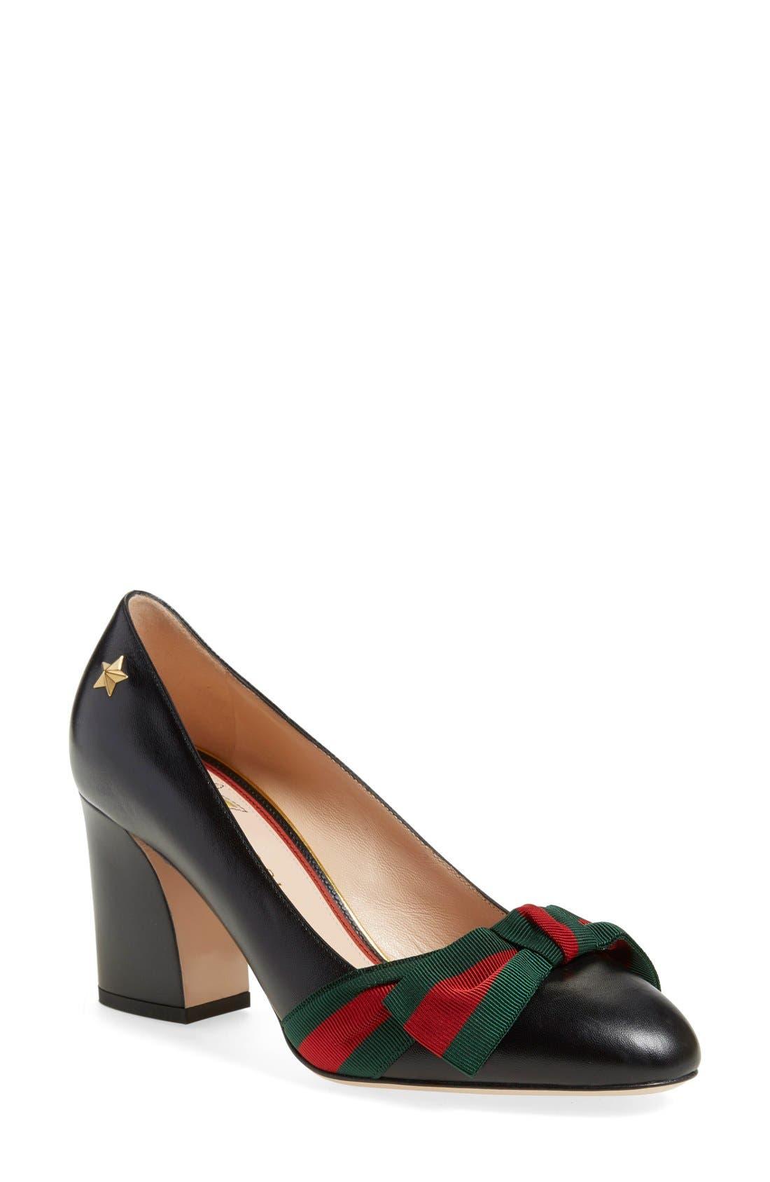Main Image - Gucci 'Aline' Block Heel Pump (Women)