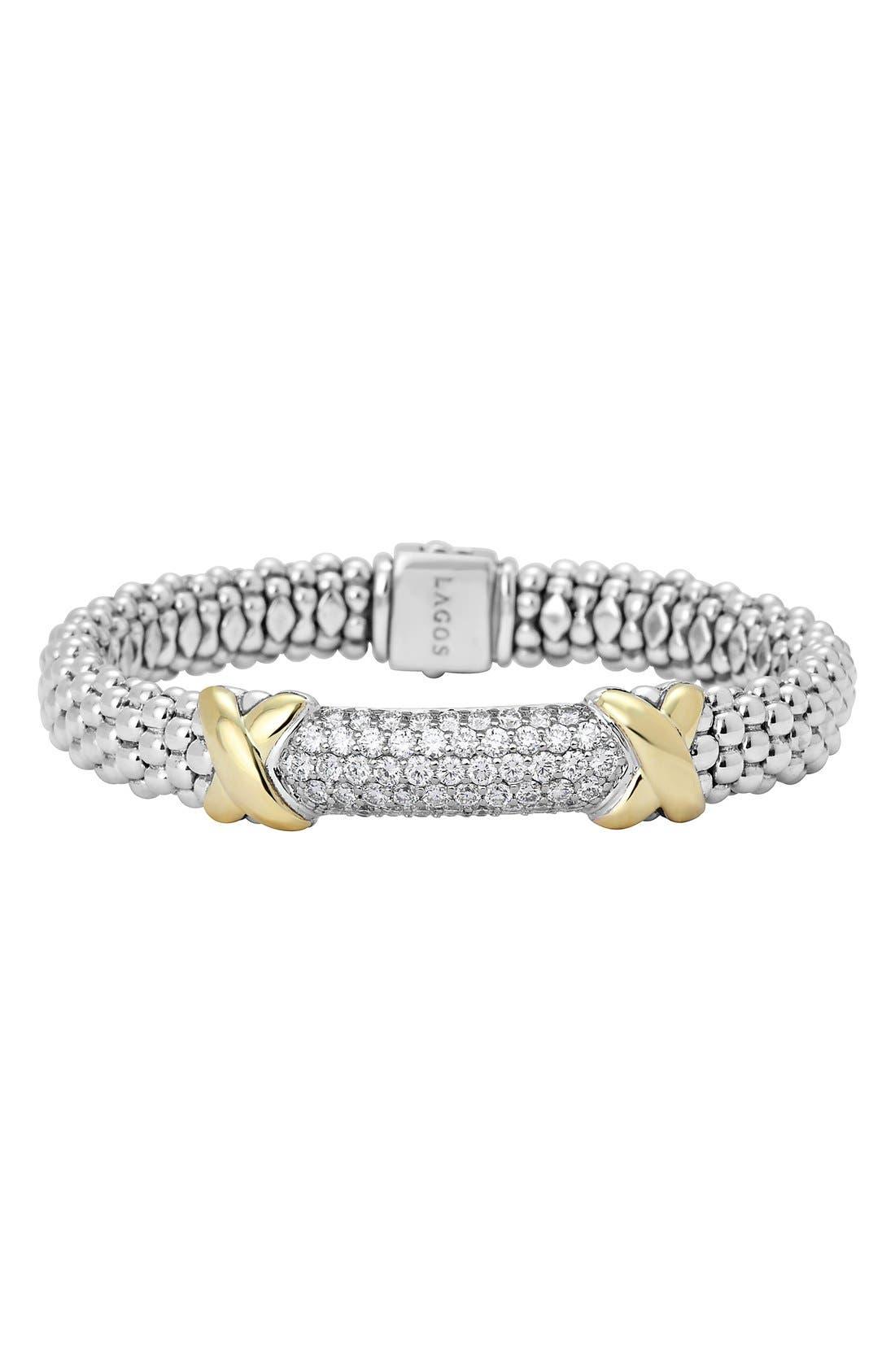 LAGOS 'Diamond Lux' Rope Bracelet
