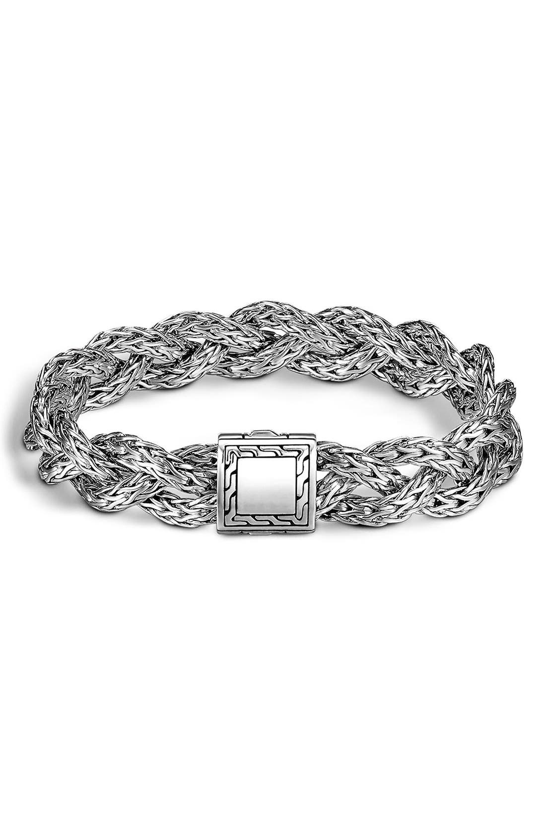 Alternate Image 1 Selected - John Hardy 'Classic Chain' Small Braided Bracelet