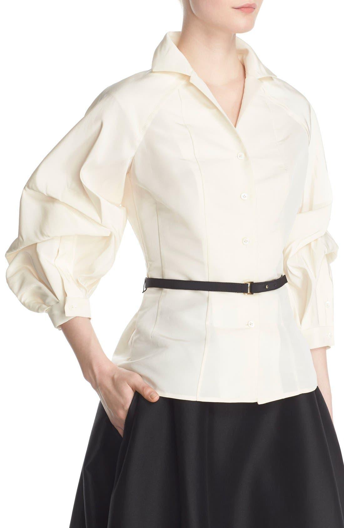 Alternate Image 1  - Carolina Herrera Full Sleeve Silk Blouse