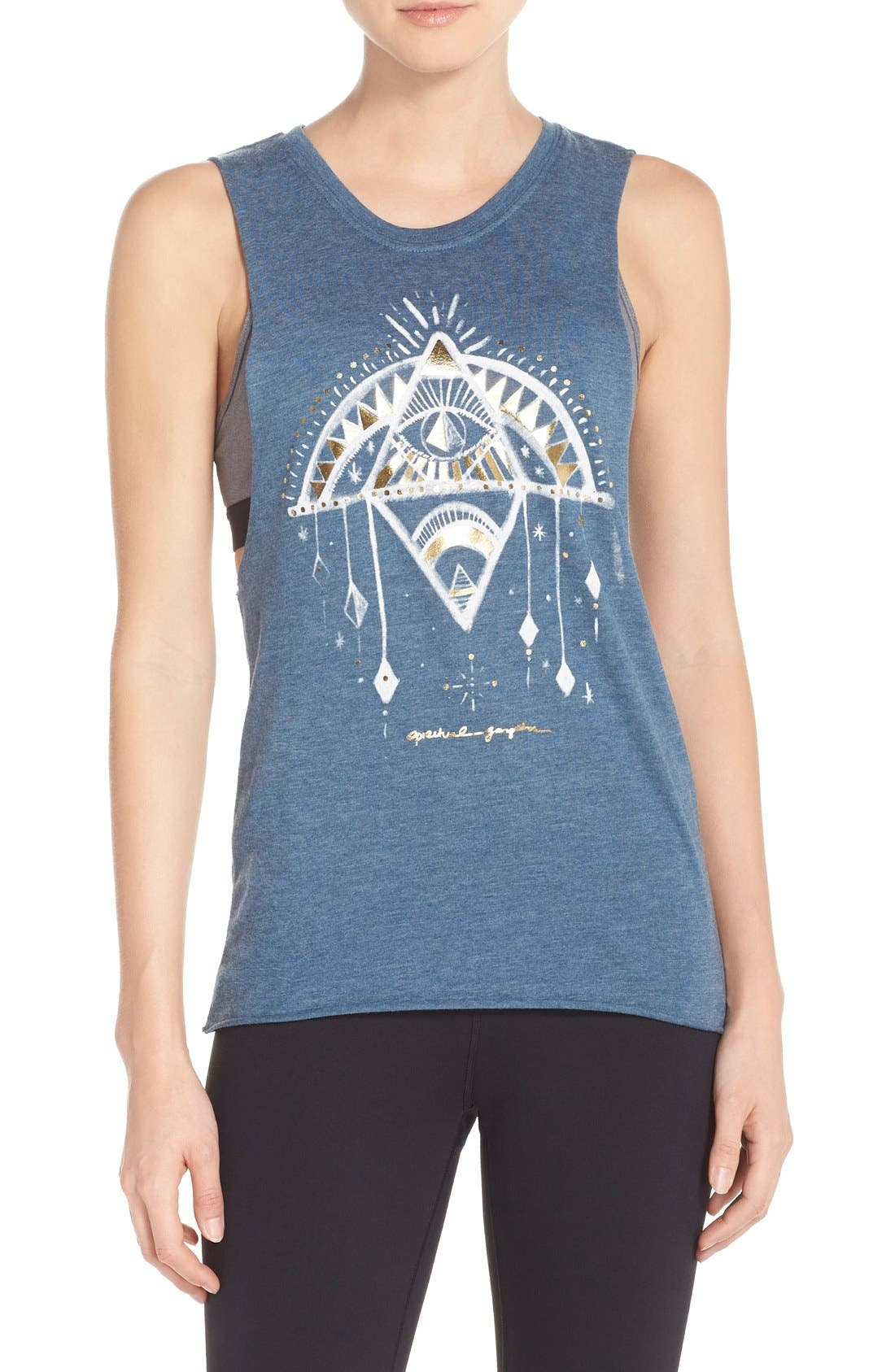 Main Image - Spiritual Gangster 'Down Dog' Graphic Muscle Tank