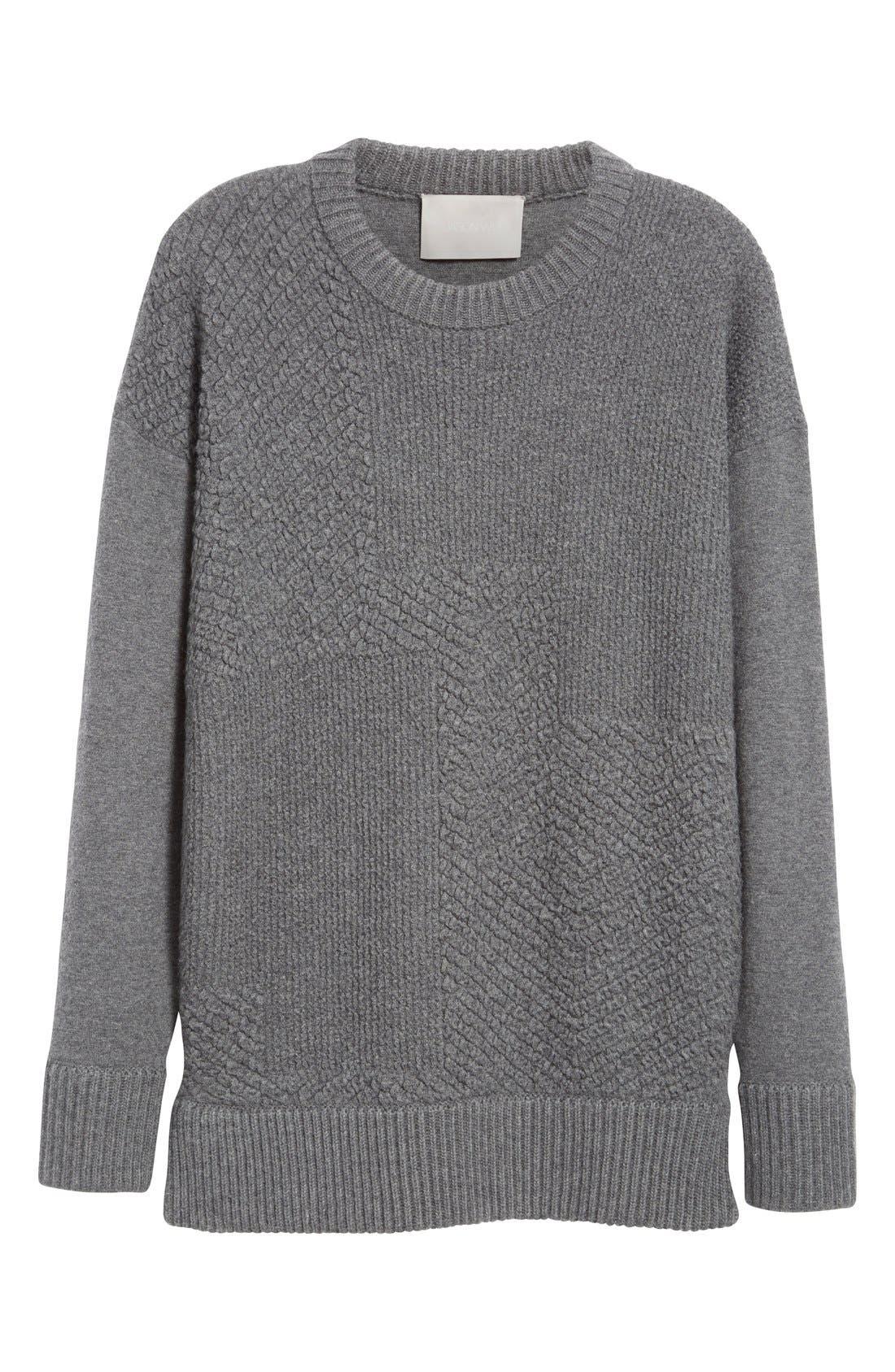 Alternate Image 4  - Jason Wu Cashmere & Wool Blend Textured Sweater